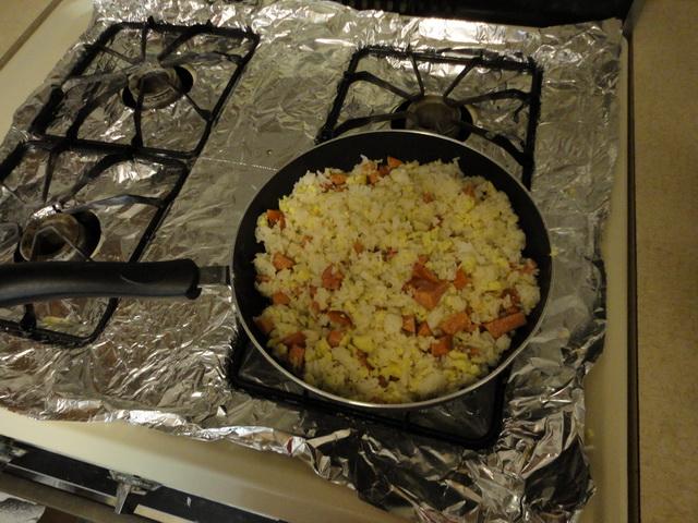 孩子做的蛋炒饭